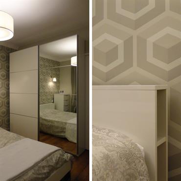 Style et fonctionnalité pour cette chambre avec salle de bains  Domozoom