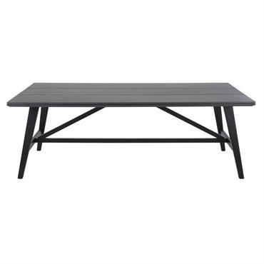 Table de jardin en Duraboard® gris foncé 6/8 personnes L215 Vador