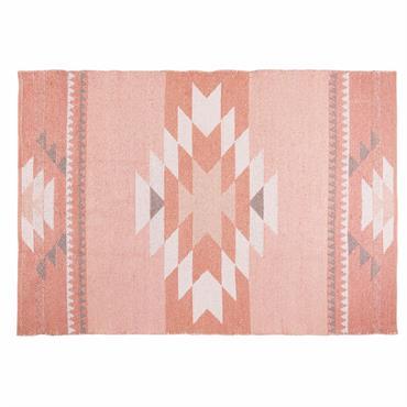 Tapis ethnique en coton rose 180x120cm MAYA