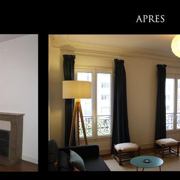 Décoration d'un appartement parisien  Domozoom
