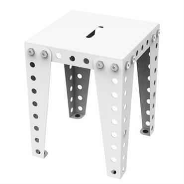 Tabouret / H 45 cm - Métal - Meccano Home Blanc en Métal