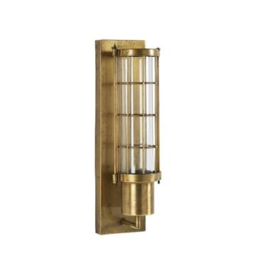 Applique en métal doré et verre