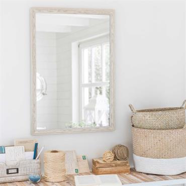 Miroir blanc vieilli 50x70cm GAVRAY