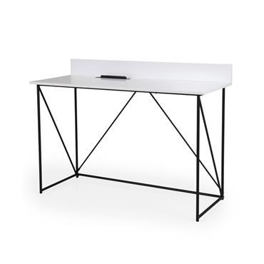 Bureau design en bois et métal noir 120cm
