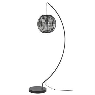 Lampadaire d'extérieur en métal noir H181