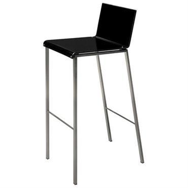 Chaise de bar Bianco Mat / H 80 cm - Zeus acier