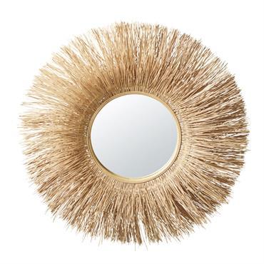 Miroir en rotin D98