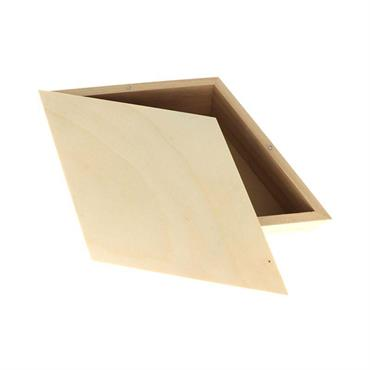 Lot de 3 étagères en forme de losange pour décorer votre maison. Tendance et original, cet objet en bois comprend trois losanges de même dimension (34,5 x 20 x 10,5 ...