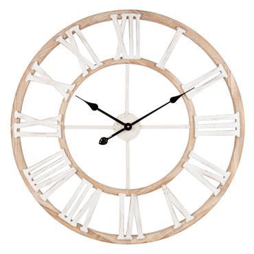 Horloge coloris naturel et blanc D70