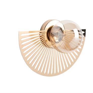 Applique en métal coloris bronze et verre