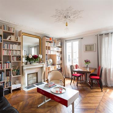 Réhabilitation d'un appartement, Paris. Conception, maitrise d'ouvrage.  Domozoom