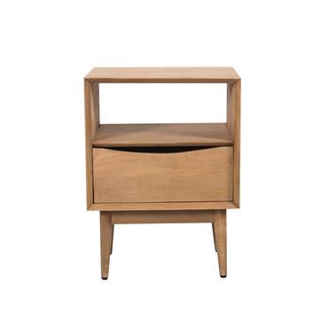 Table de chevet 1 tiroir en bois de manguier