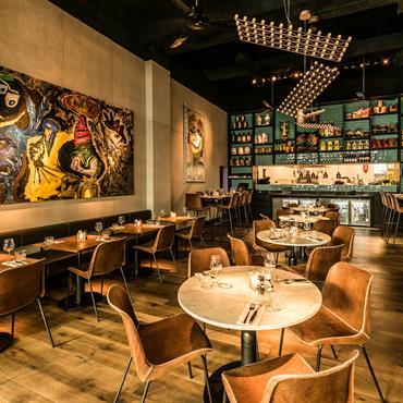 Habillage mural du Restaurant