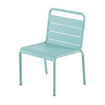 Chaise enfant en métal bleu turquoise Fun Summer