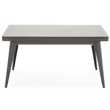 Table basse 55 / 90 x 55 cm - Tolix noir en métal