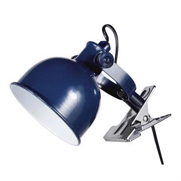 Lampe pince en métal bleu marine