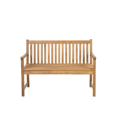 Banc de jardin en bois acacia 120 cm