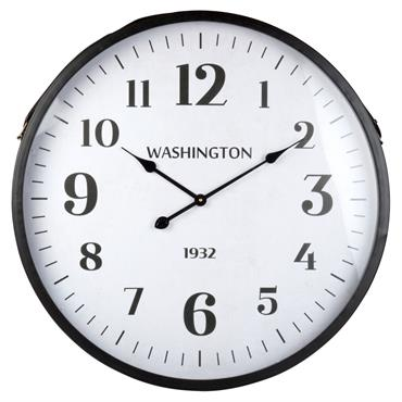 Horloge en métal blanc et noir D70
