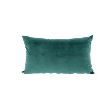 Housse de coussin velours bleu 50x30