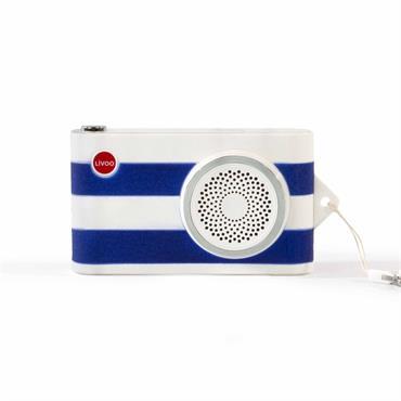 Enceinte compatible Bluetooth® 2en1 en plastique bleu