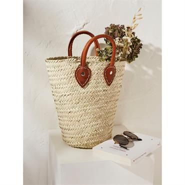 Panier long en paille Chabi Chic naturel