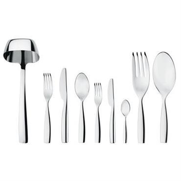 Ménagère Alessi design Métal brillant en Métal. Dimensions : Cuillère de table : L 19,5 cm - Fourchette de table : L 19,5 cm - Couteau de table : L ...