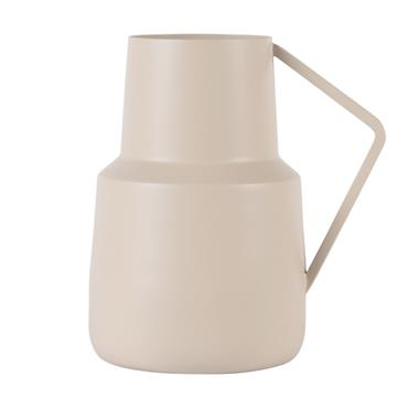 Vase métal crème h17