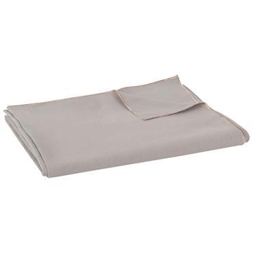 Nappe en coton et lin gris foncé 150x250