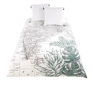 Mettez le cap vers de nouveaux horizons avec la parure de lit en coton imprimé carte de l'Inde 240x260 SIWANA . Elle se compose d'une housse de couette et de ...