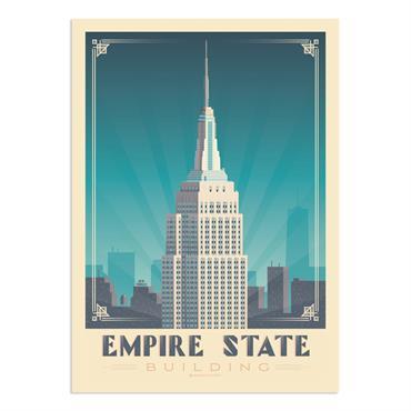 Affiche New York Empire State  50x70 cm