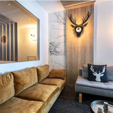 Rénovation complète d'un châlet - Architecture intérieure - Agencement - Aménagement - Salon/Séjour/Vue chambre d'amis