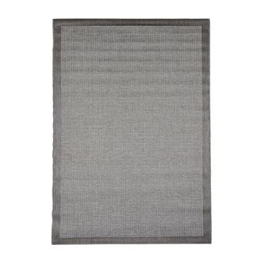 Tapis uni contemporaine en polypropylène gris 200x290