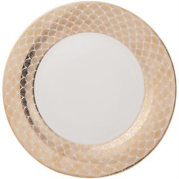 Assiette plate en porcelaine imprimée