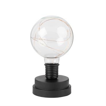 Lampe boule noire et verre