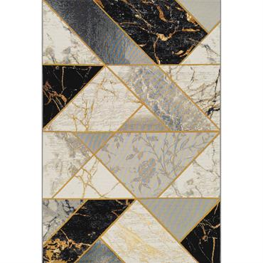 Tapis pour l'intérieur et l'extérieur - noir / blanc 120x180 cm