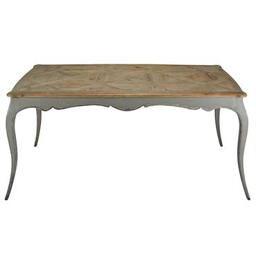 Table à manger en peuplier gris et sapin 6/8 personnes L185 Sidonie