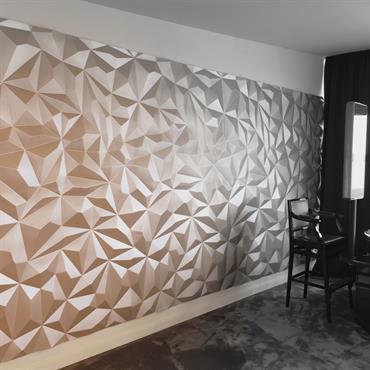 Pensez à habillez vos murs de manière trendy et design ! le parement en staff est idéal !  Domozoom