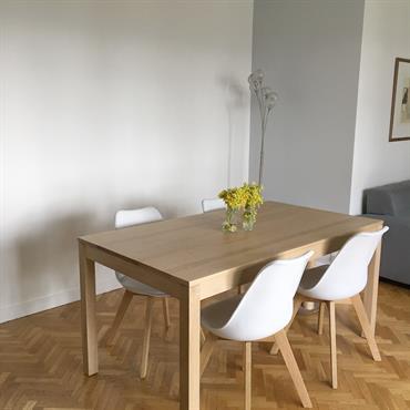 Salle à manger, rénovation et ameublement, réalisée par Nuance d'Intérieur.