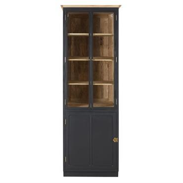 Votre atelier gourmand sera placé sous le signe du charme et de l'authenticité avec le meuble de cuisine colonne vitrée en manguier massif gris ardoise et métal MELCHIOR . Affichant ...