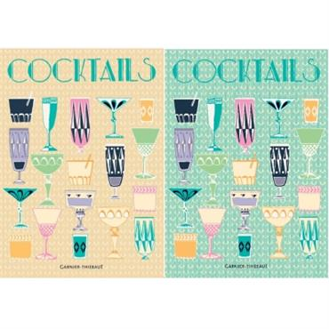 Lot de 2 torchons Cocktails GARNIER THIEBAUT