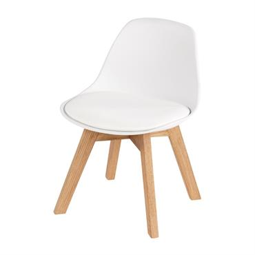 Chaise style scandinave enfant blanche et chêne Ice