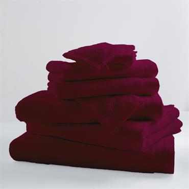 Drap de bain uni et coloré coton raisin 150x100
