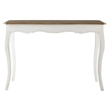Table console en manguier massif blanc Versailles