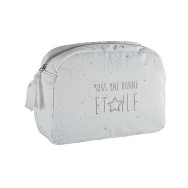 Trousse de toilette bébé en coton blanc
