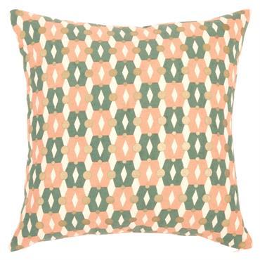 Housse de coussin en coton à motifs tricolores 40x40
