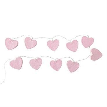 Guirlande lumineuse curs rose L 160 cm LOVELY