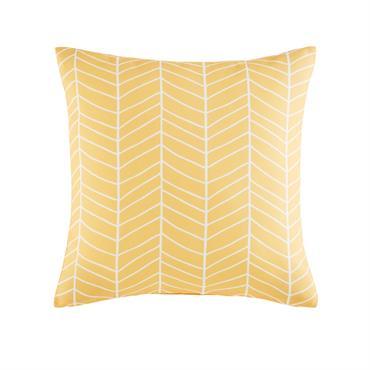 Coussin d'extérieur jaune motifs graphiques 45x45