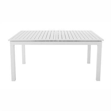 Table de jardin à rallonge en aluminium blanche L 160