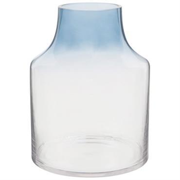 Vase en verre bleu dégradé H20