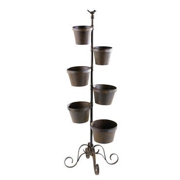 Les 6 cache-pots HOLLY charmeront tous les amoureux du jardinage. Vous allez pouvoir faire pousser vos petites plantes et herbes aromatiques. La structure en fonte et les six pots en ...